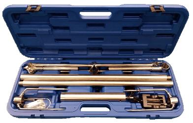 Inox ražanj u koferu na baterije